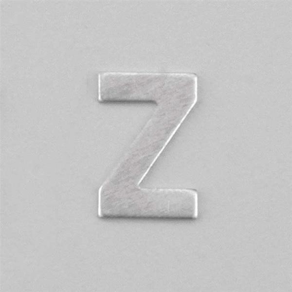 Aluminium letter Z