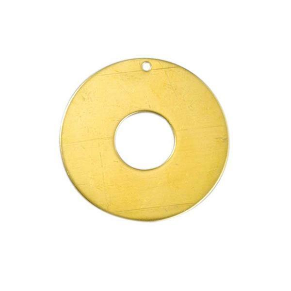 Pendentif - donut, Ø 50 mm, laiton
