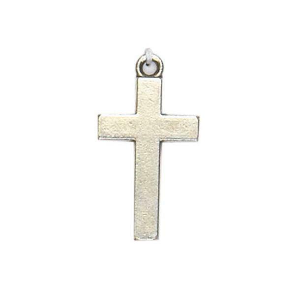 Hanger kruis - oud platina, 28 x 15 mm