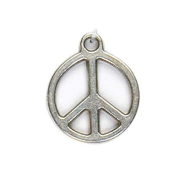 Hanger Peace - oud platina, 23 mm