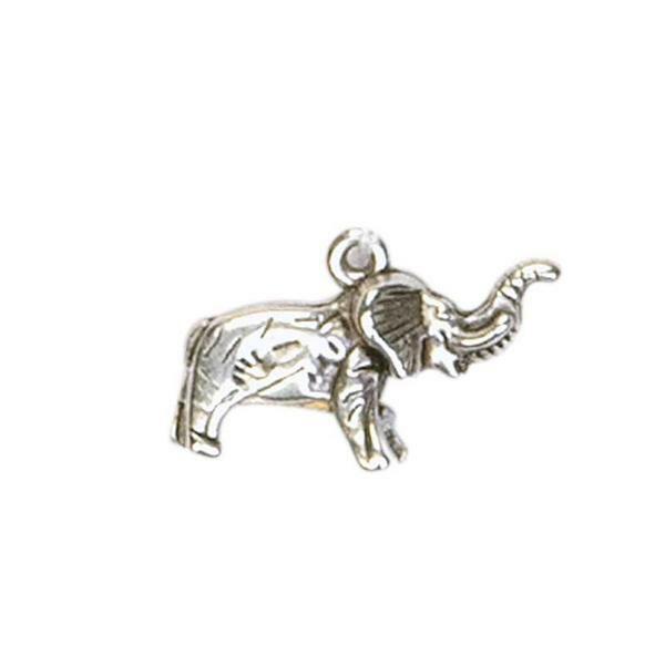 Pendentif Eléphant - env.22x13 mm, platine antique