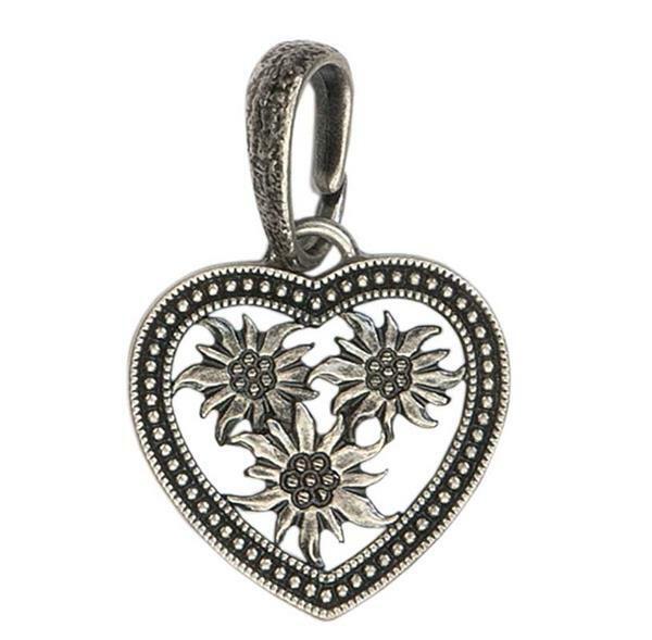 Hanger klederdracht hart edelweiss met lus