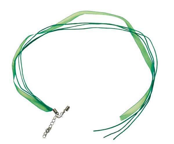 Collier - ouvert sur 1 côté, 50 cm, vert foncé