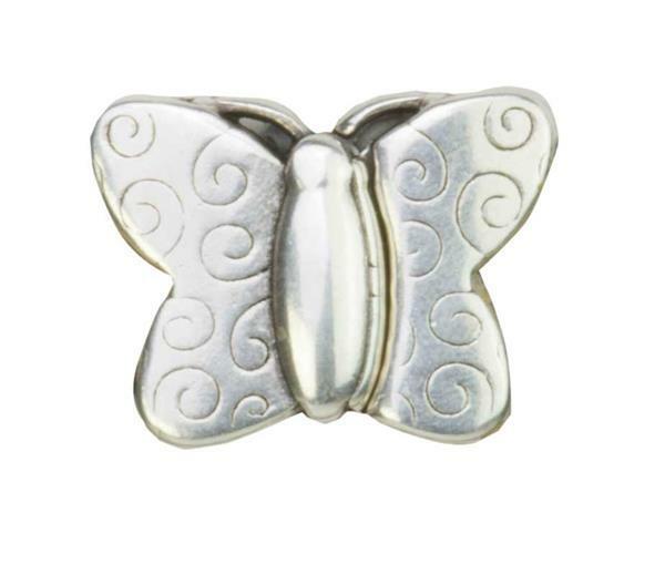 Fermoir magnétique - Papillon, vieux platine