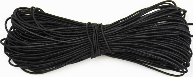 Elastisch koord - Ø 1 mm, zwart