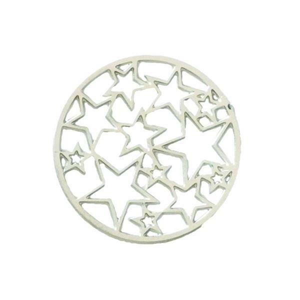 Anhänger Sterne - 23 mm, silber