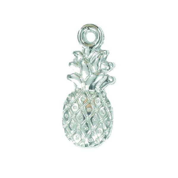 Hanger ananas - 20 mm, zilver