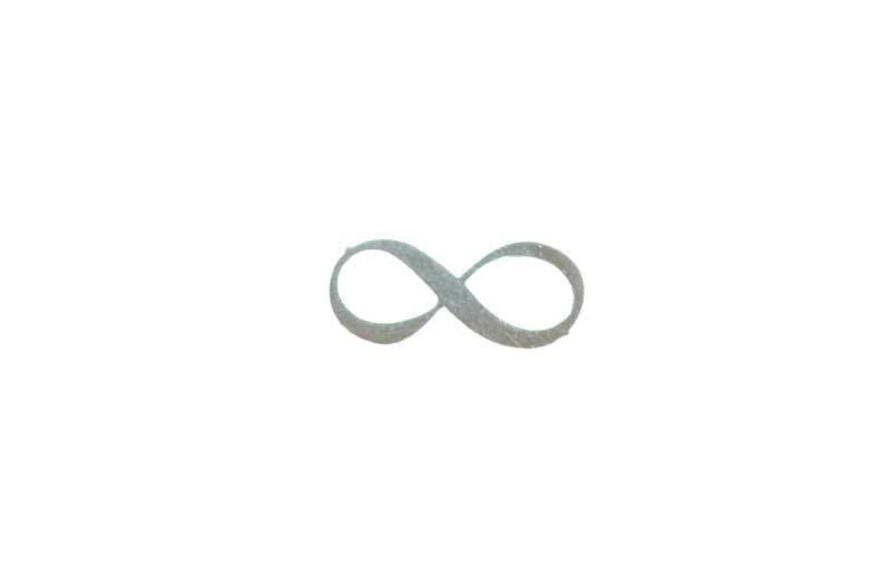 Pendentif Infinity - argent, 18 mm