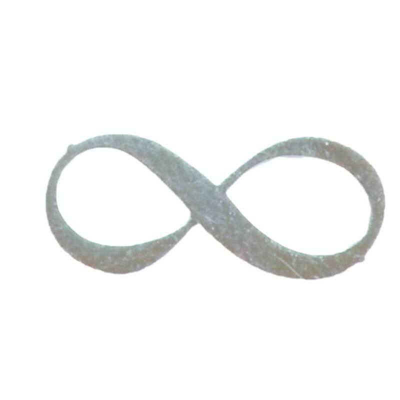Anhänger Infinity - 18 mm, silberfarbig