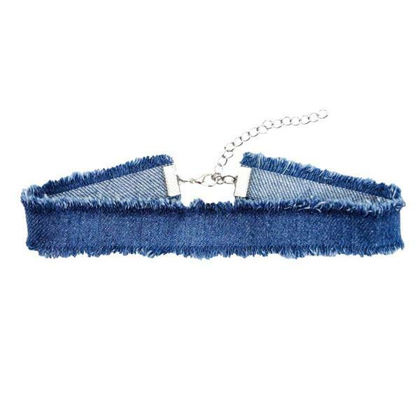 Collier Chocker, bleu moyen