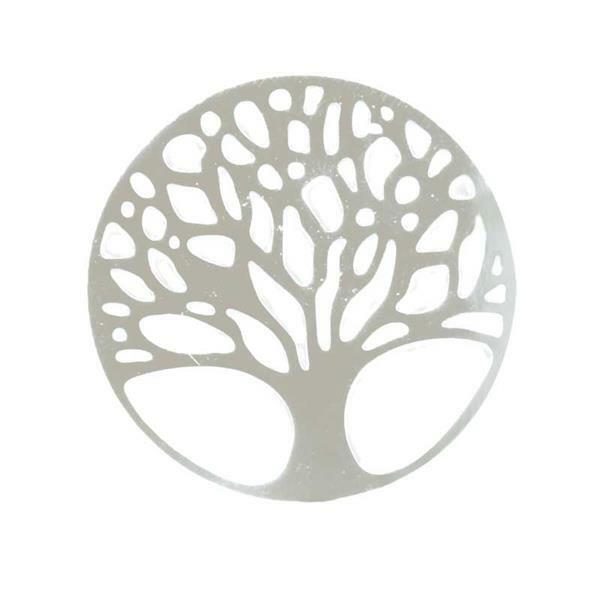 Anhänger Baum - 23 mm, silber