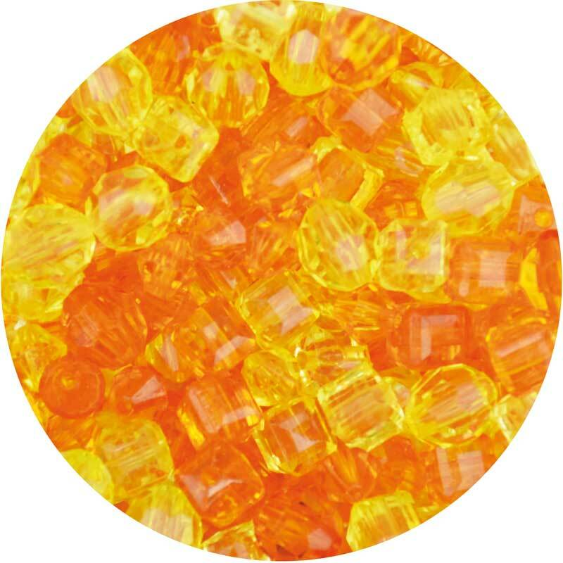 Acrylperlen Mix - ca. 400 Stk., gelb-orange