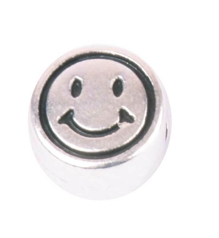 Metallperle - altplatin, Smiley