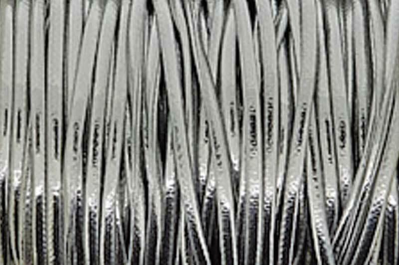 Metallickordel Ø 2 mm - 2 m, silber