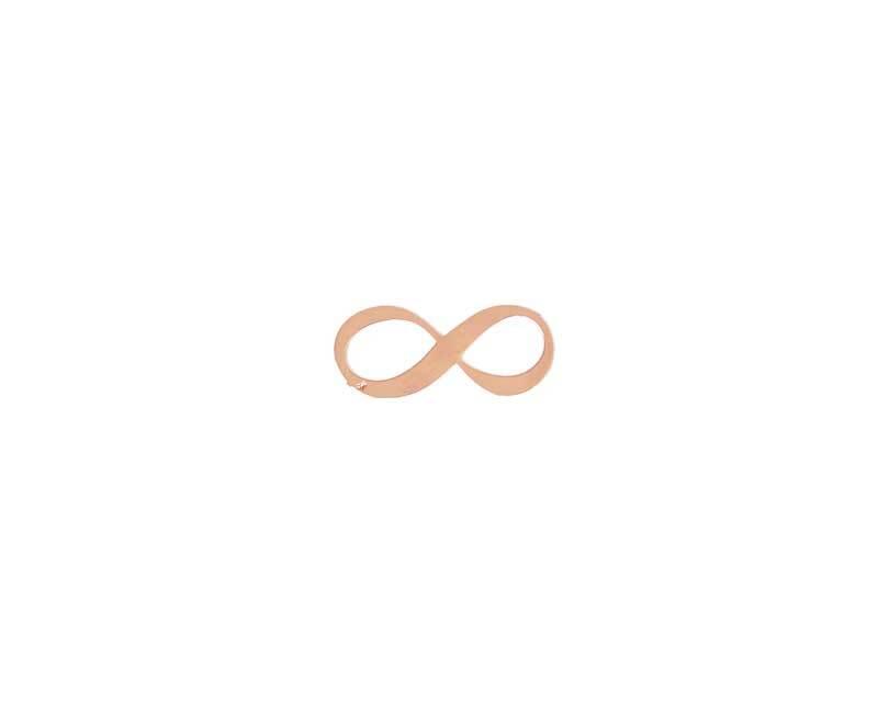 Anhänger Infinity - 18 mm, rosegoldfarbig