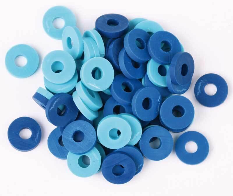 Katsuki kralen mix - 60 stuks, blauw