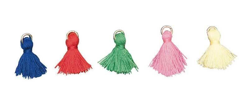 Set pendentifs houppes - 5 pces, basic