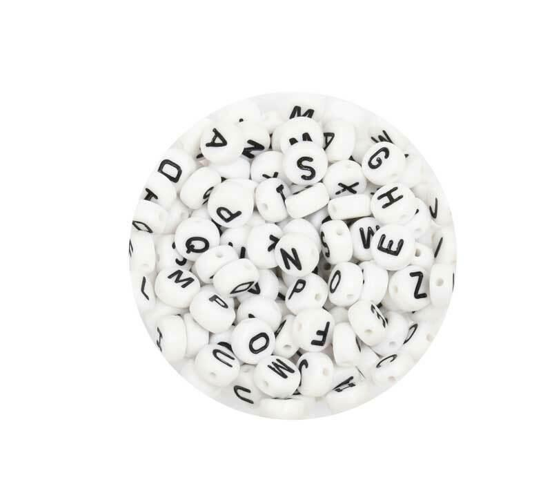 Perles plastiques alphabet, 165 pces