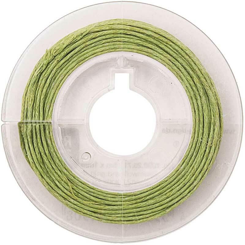 Katoenen koord Ø 1 mm - 5 m, groen