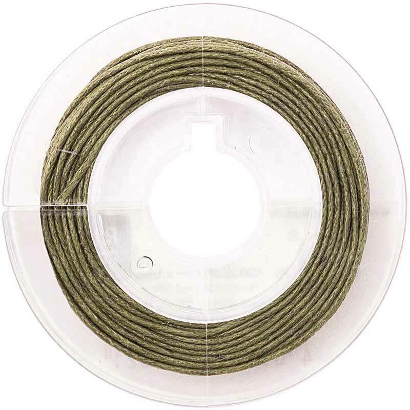 Katoenen koord Ø 1 mm - 5 m, olijf