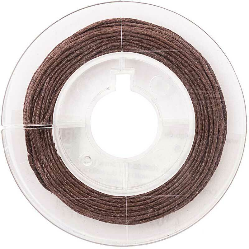 Katoenen koord Ø 1 mm - 5 m, donkerbruin