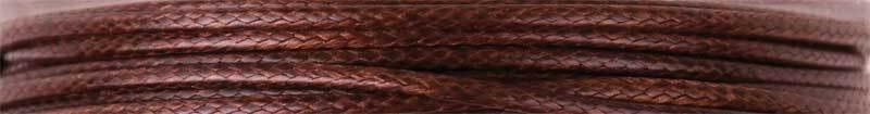 Baumwollkordel Ø 1 mm - 5 m, dunkelbraun