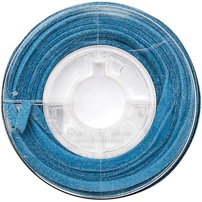 Ruban velours plat - 2 mm, océan