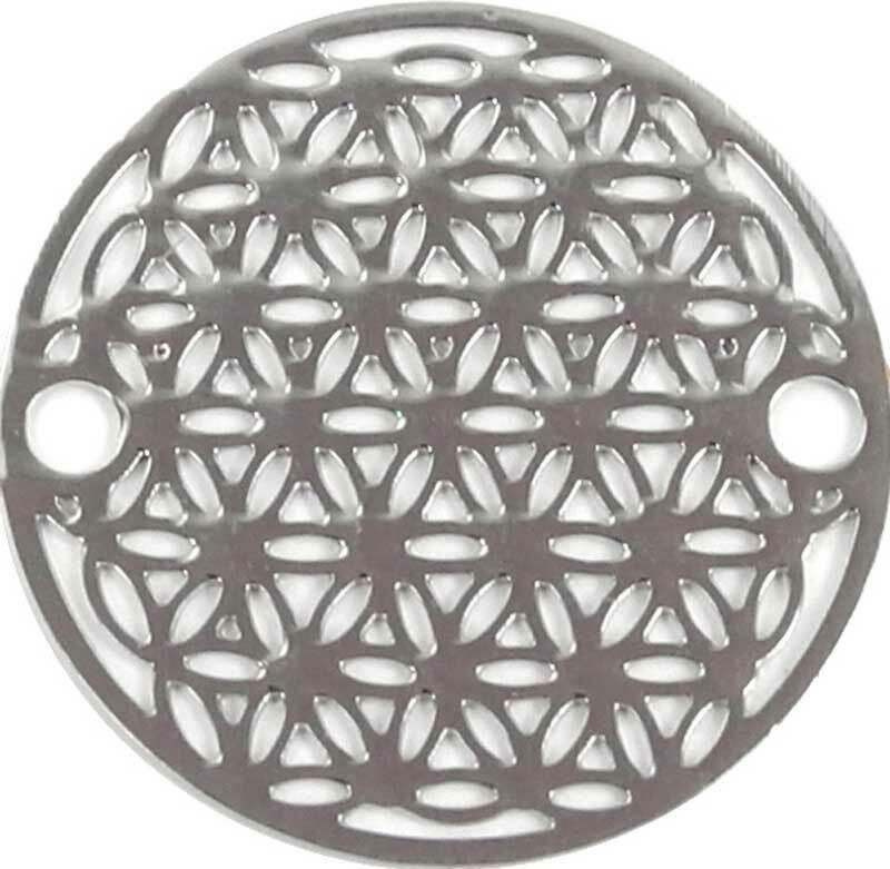 Hanger levensbloem - 18 mm, zilver