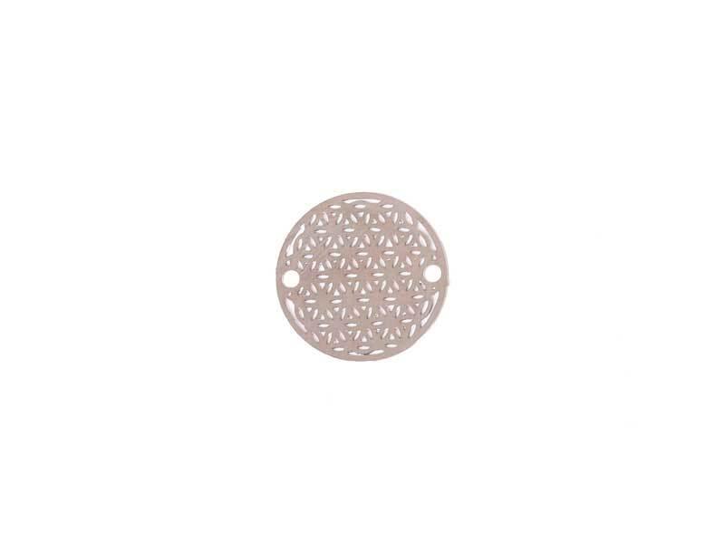 Anhänger Lebensblume - 18 mm, silberfarbig