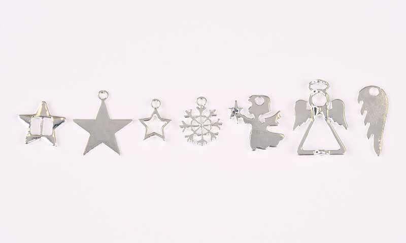 Set de pendentifs Noël - env. 42 pces, argenté