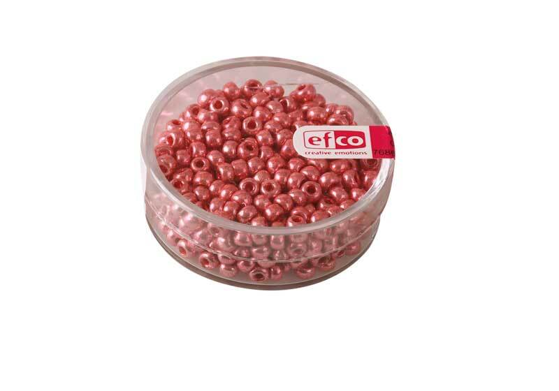Rocailles metallic Ø 3,5 mm, pink