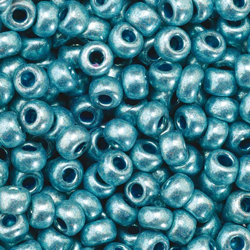 Rocailles metallic Ø 3,5 mm, blau