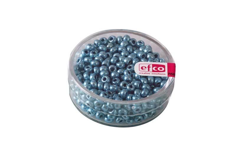 Rocailles metallic - Ø 3,5 mm, blauw