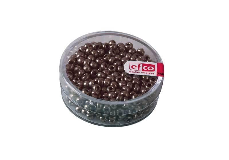Rocailles metallic - Ø 3,5 mm, grijs