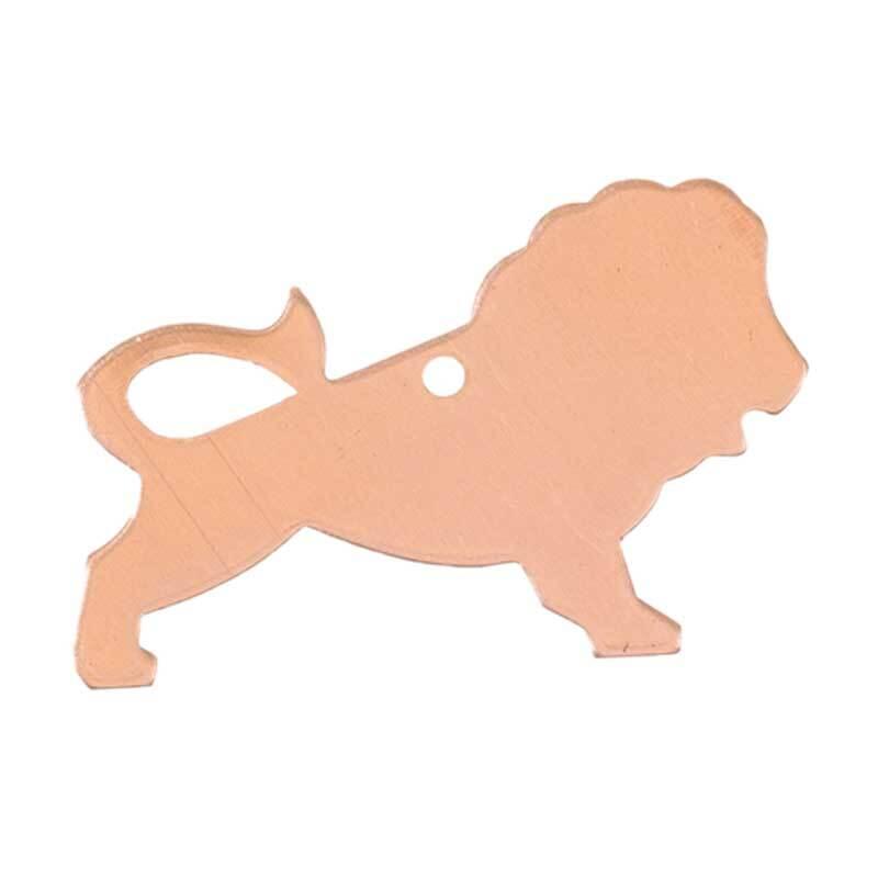 Kupferanhänger Löwe - 1 Bohrung, 22 x 35 mm
