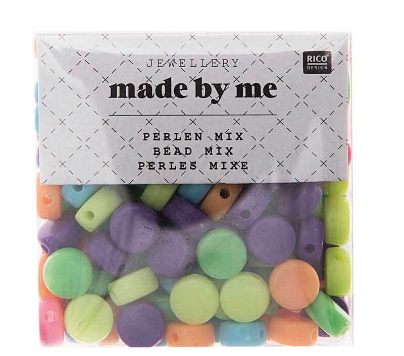 Perles en plastique - rondes, env. 165 pces