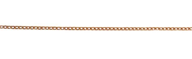 Halsketting goudkleurig - 1 meter, fijne schakel