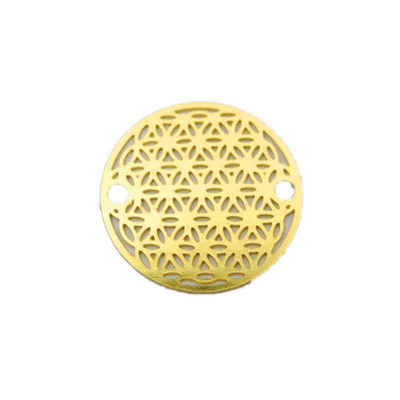 Anhänger Lebensblume - 18 mm, gold
