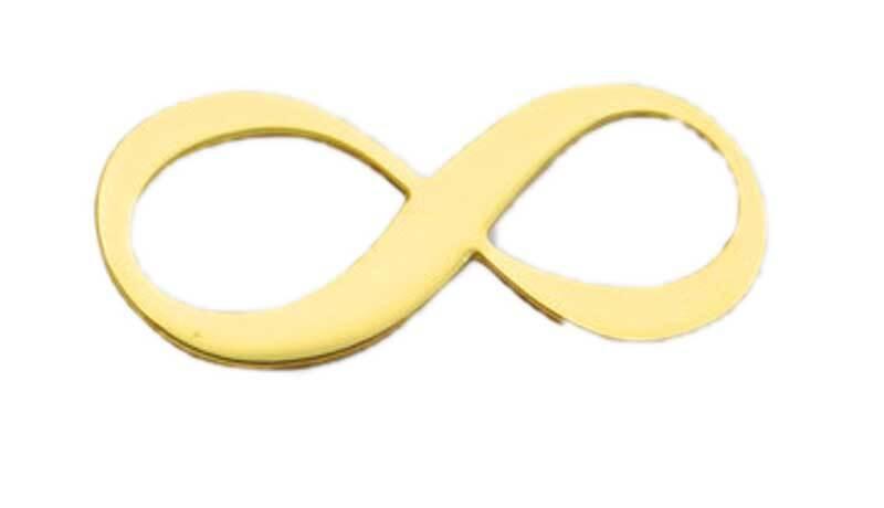 Hanger Infinity - 18 x 8 mm, goudkleurig