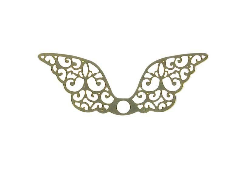 Pendentif aile - 40 x 13 mm, coloris or