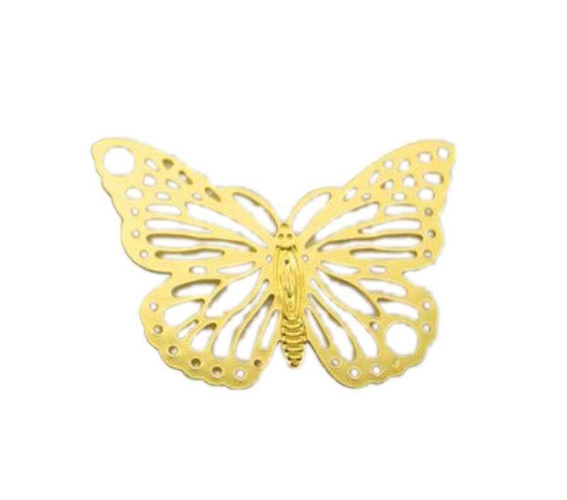Anhänger Schmetterling - 19 x 13 mm, goldfarbig