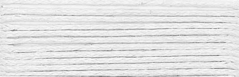 Baumwollband Ø 1 mm - 5 m, weiß