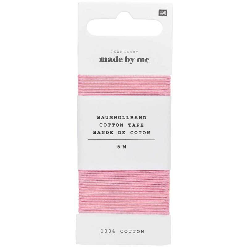 Baumwollband Ø 1 mm - 5 m, rosa