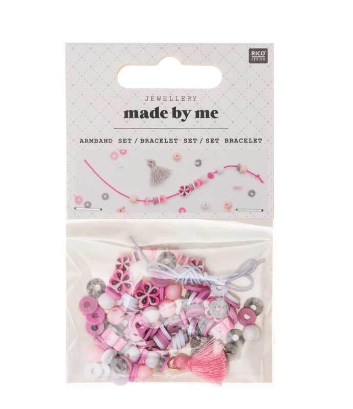 Set pour bracelet, rose - gris