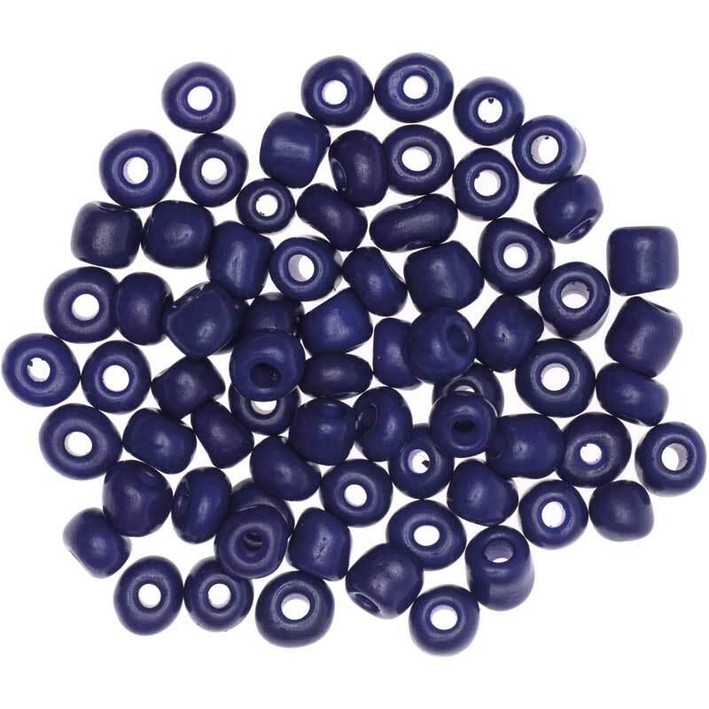 Perles céramique naturel - Ø 5 mm, bleu foncé
