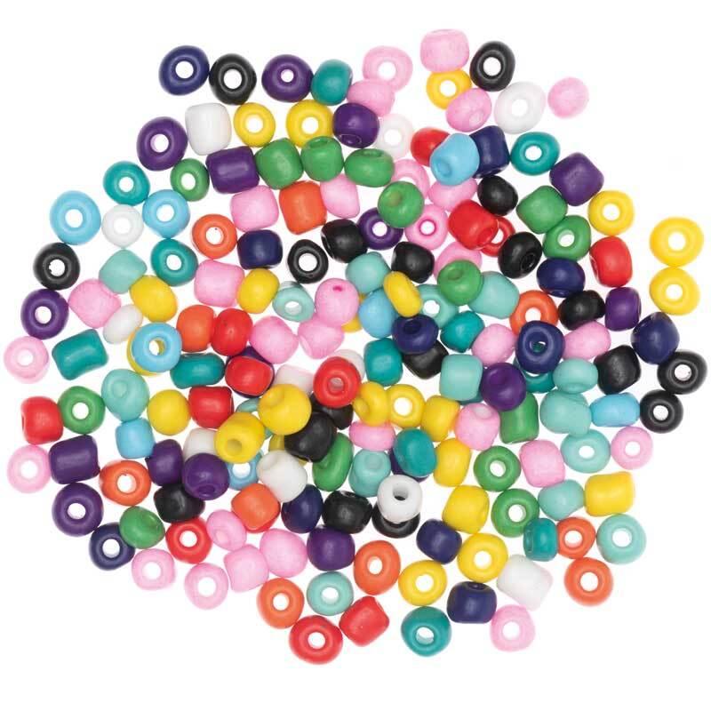 Perles céramique naturel - Ø 5 mm, multicolore