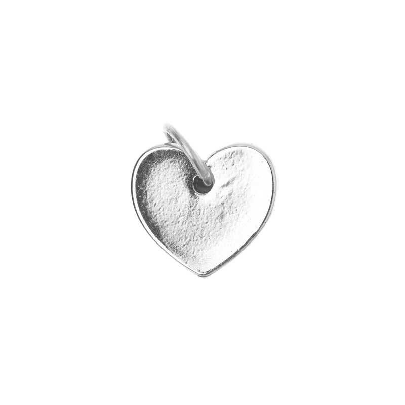 Pendentif cœur - 10 mm, argenté