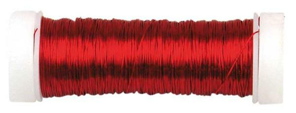 Decodraad gelakt metallic - Ø 0,50 mm, rood