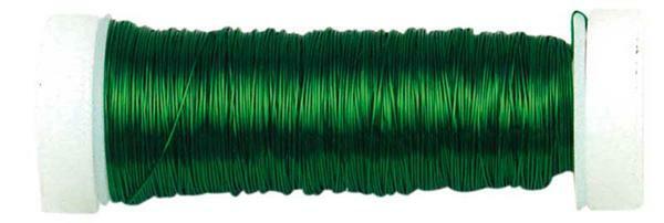 Häkeldraht metallic - Ø 0,30 mm, grün