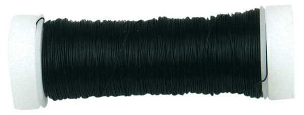 Häkeldraht metallic - Ø 0,30 mm, schwarz